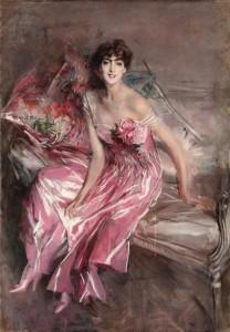 La signora in rosa - Giovanni Boldini