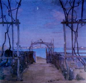 Sera di Primavera - Umberto Moggioli