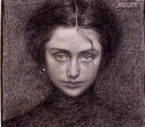 Testa di donna - Domenico Baccarini