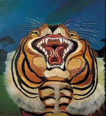 Nessun'artista al mondo ha mai dipinto la potenza e la forza della tigre in questo modo